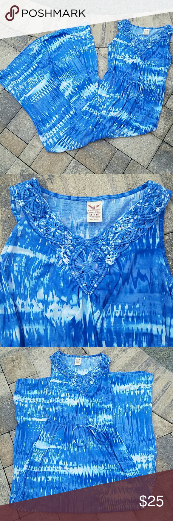 """Faded Glory Maxi Dress Sz M EUC Worn once. Beautiful dress in excellent condition. Sz Med. Overall length is 56"""" from shoulder to hem and bust is 36"""". No trades and reasonable offers via button only please. Faded Glory Dresses Maxi"""