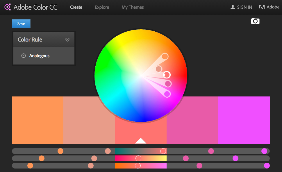 adobe color cc tool (With images) | Website color schemes. Interactive websites. Adobe color cc