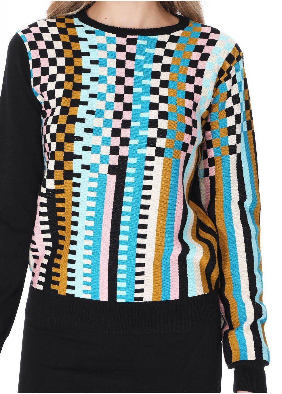 Colorblock Multi-Box Sweater