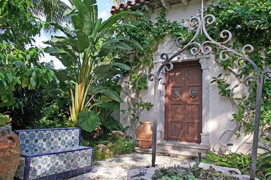 Notice The Tile Covered Bench. Great Way To Introduce Some Colorful Seating  And Also Easy · Mexican CourtyardSpanish CourtyardSpanish GardenRustic ...