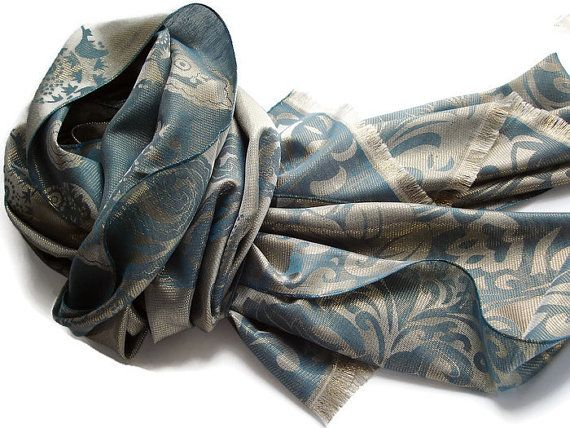 Green Gold Scarf, SALE fall scarf, Pashmina shawls, Shawl ...