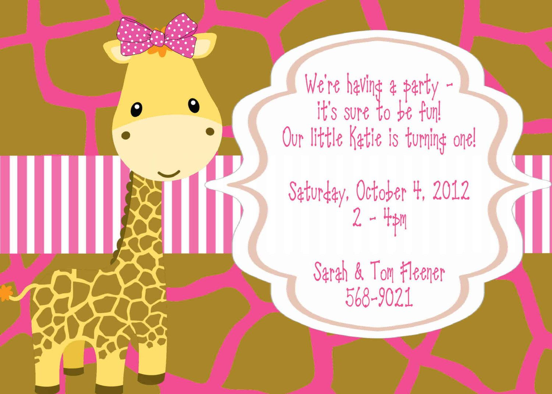 Giraffe Birthday Invitation Giraffe Birthday por ChurchHillCharm ...