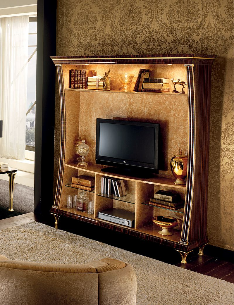 Rossini collection living room wall unit for Classic wall units living room