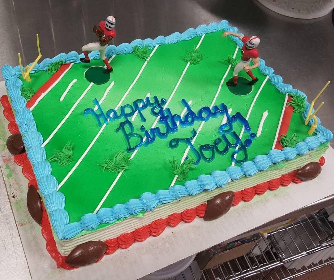 Football Birthday cake Customize a cake at Long Island DQ