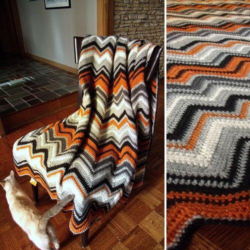 Zig Zag Afghan Free Pattern Crochet For Children Afghans Zig