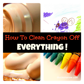 clean crayon off of everything by Ducks 'n a Row