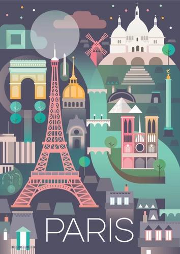 Paris Capital De Francia Max And Oscar Carteles De Viajes Vintage Carteles De Viajes Ilustración Viajes