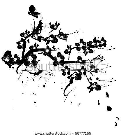 39+ Tatouage cerisier japonais noir et blanc ideas