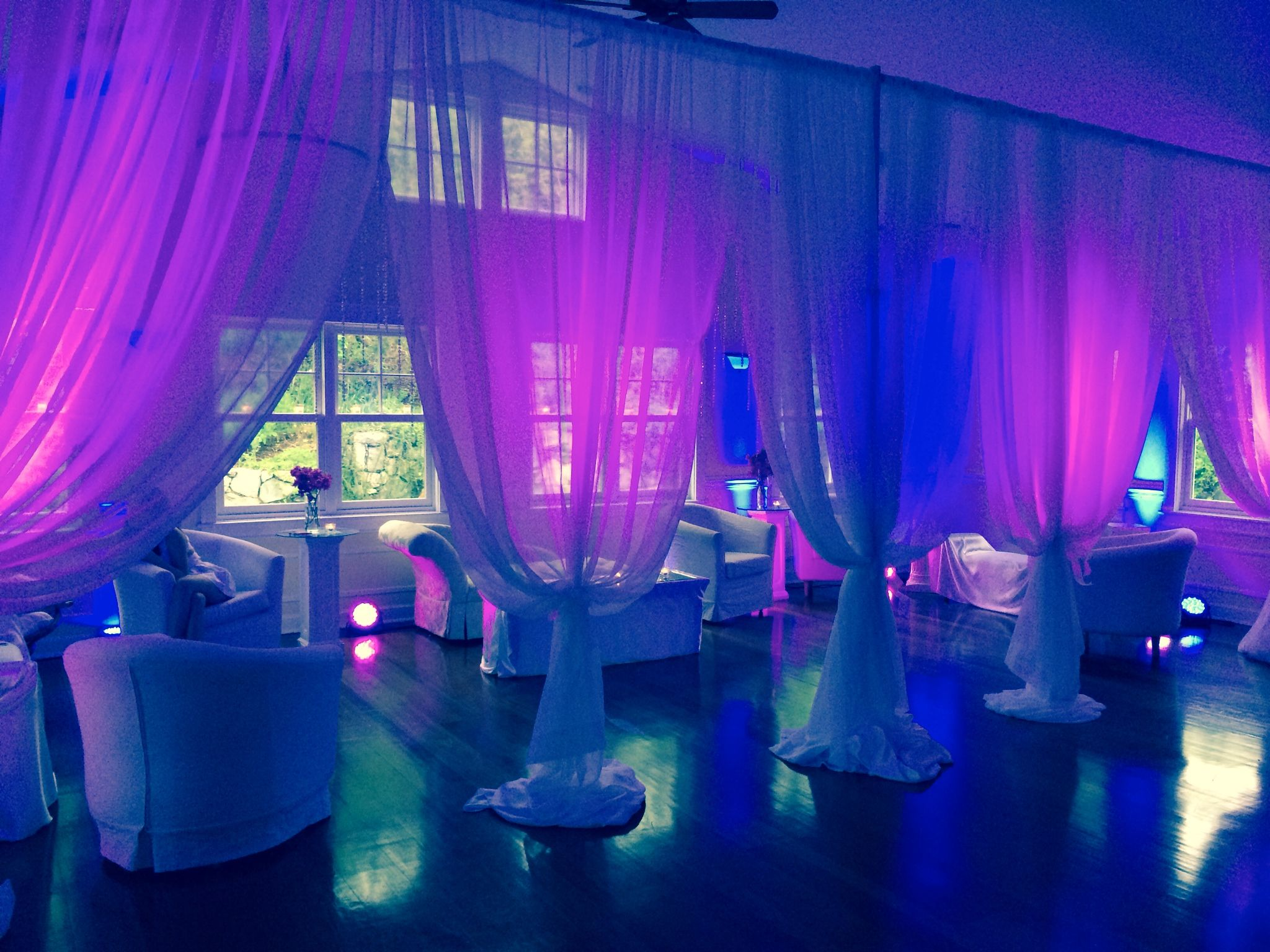 Fantastic Look With Pink Uplighting At This Wedding Reception MIltonRidge