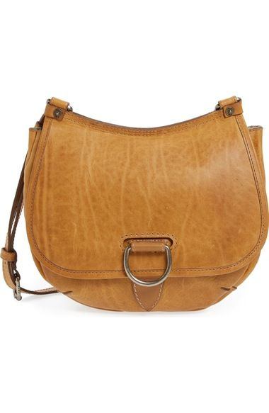 8200267fba34 Cognac color for me. Frye  Amy  Leather Crossbody Bag available at   Nordstrom