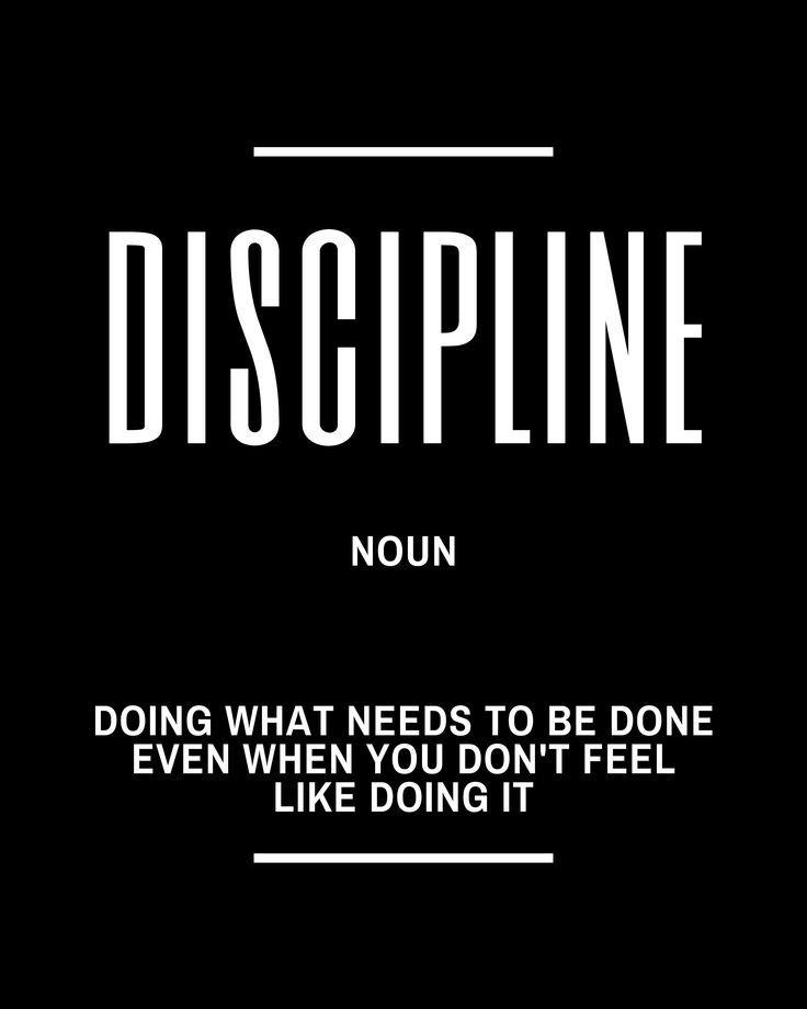 Discipline Inspirational Quote