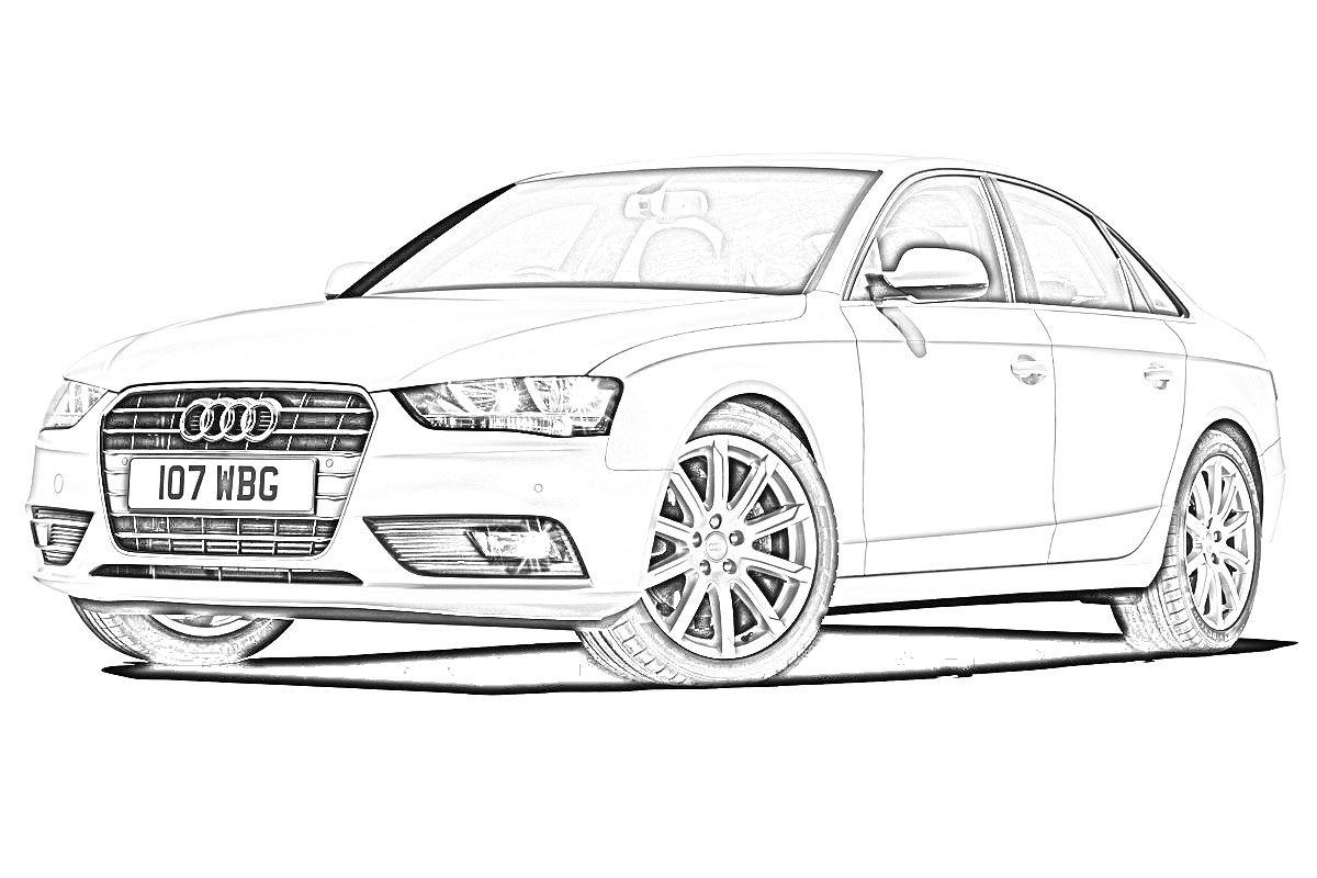 Audi car drawing | Auto zeichnungen, Zeichnungen von autos ...