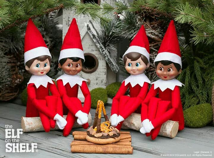 Elves With A Campfire Elf Elf On The Shelf Holiday Crafts
