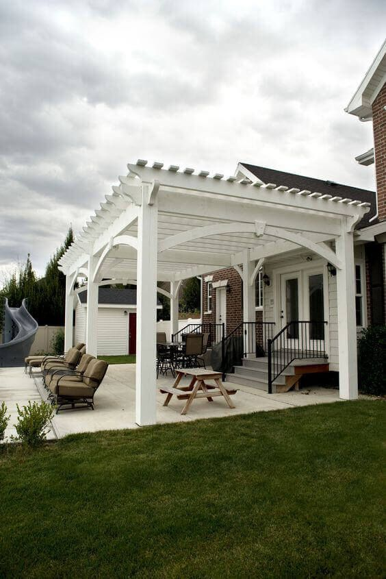 Custom pergola shade for your delight find the pool designs that suit space you want to create go backyardmastery more ideas also attached house patios rh pinterest