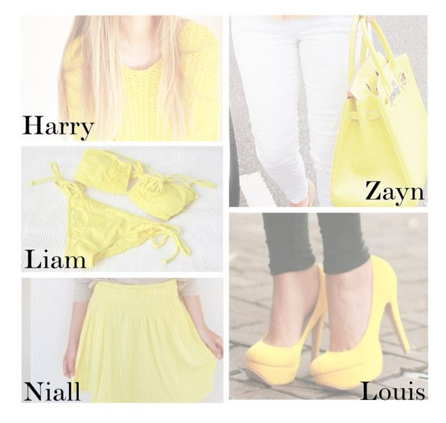 """""""He Bought You Something Yellow"""" by swaggxdirection ❤ liked on Polyvore"""