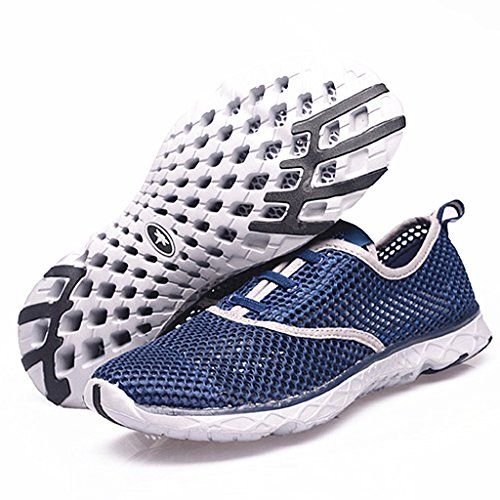 Aleader Men's Quick Drying Aqua Water Shoes Blue 10.5 D(M) US Aleader http