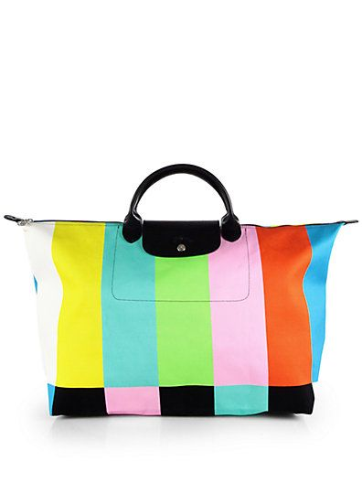 621959cbff13 Longchamp - Color Bar-Print Canvas Tote - Saks.com | Handbag ...