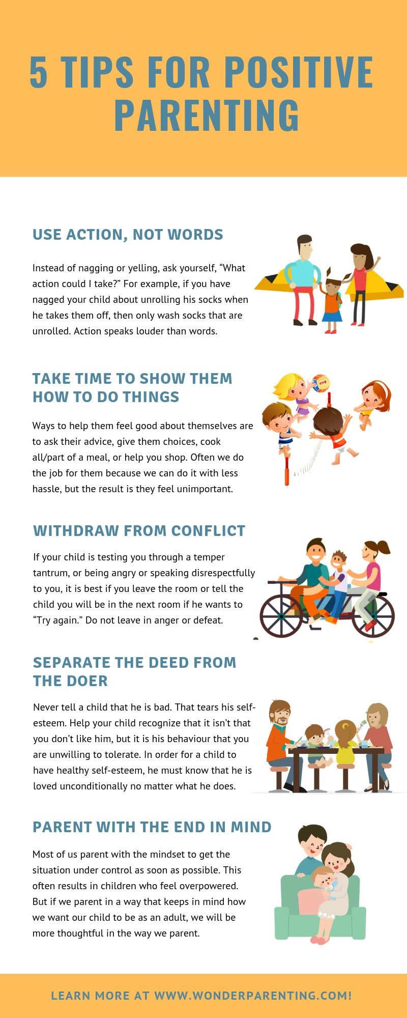 Here are the 5 essential tips for positive parenting. ️