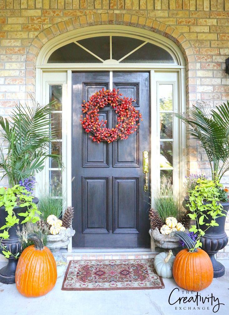 Fall Front Door Makeover