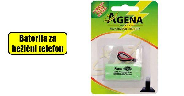 Baterija za bežični telefon 2AAA 2.4V 100mAh.