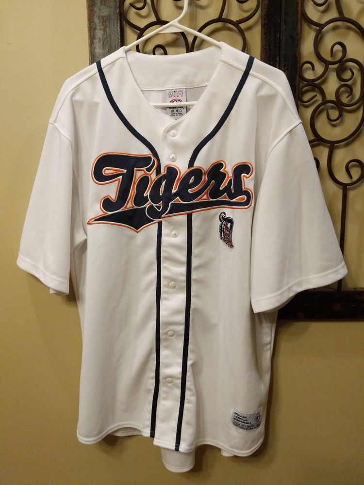 Detroit Tigers MLB Genuine Merchandise True Fan Series Baseball Jersey X- Large   17.95 End 537788bdf