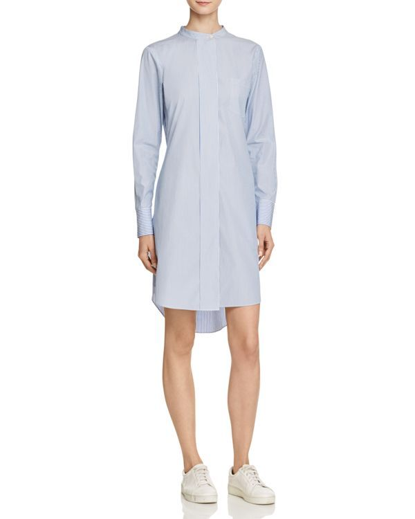 Theory Jodalee Taff Stripe Shirt Dress