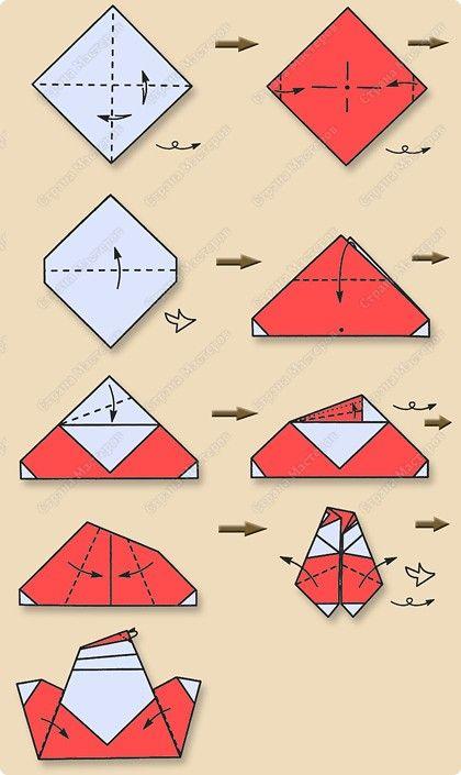 Pin By Tatiana Mayorova On Origami 2 Pinterest Origami Origami - Origami-papa-noel