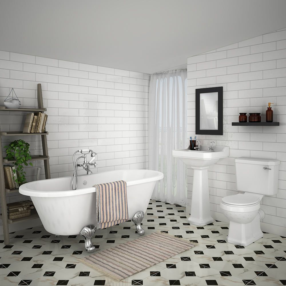 The Grosvenor white bathroom suite is a great example of a