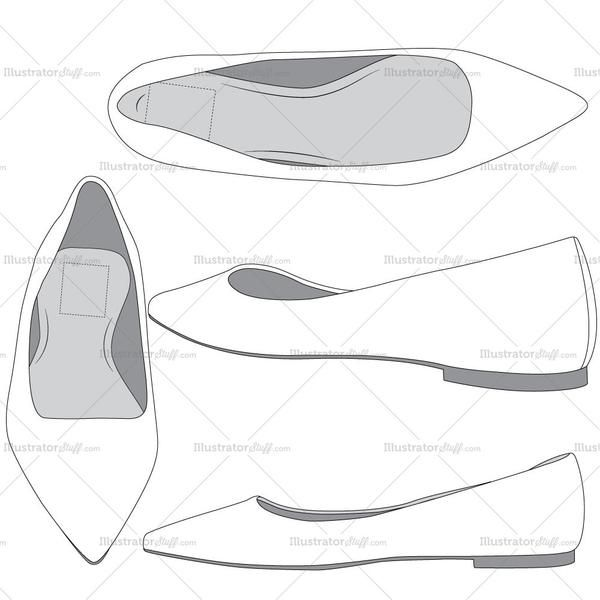 ballet flats fashion flat template fashion flats ballet flat and