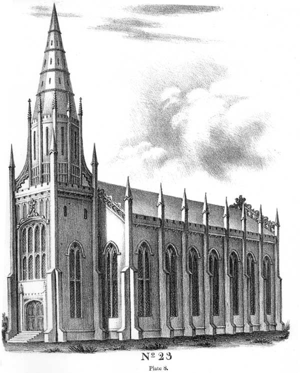 Essay On Gothic Architecture By John Henry Hopkins 1836 The Figure In Plate Marked No 23 Exhibits Front View Of Same Building Which