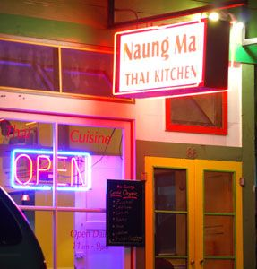 Naung Ma Thai Kitchen, Hilo, HI Great hole in the wall Thai Restaurant that actually encourages you to bring in your own beverage. We brought in our own beer and wine. Great food!