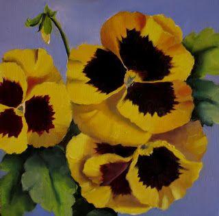 Yellow Pansies 2 Sold Pansies Flower Painting Petal Perfection