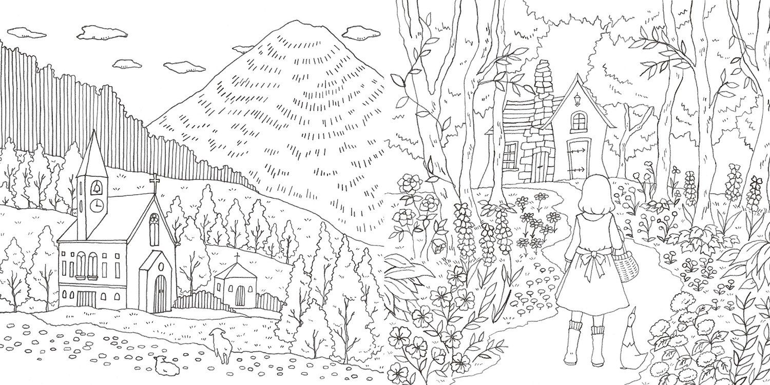 romantic coloring pages - romantic country cocot