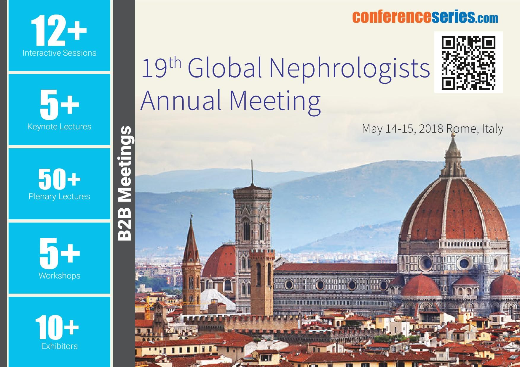 19th Global #Nephrologists Annual Meeting May 14-15, 2018