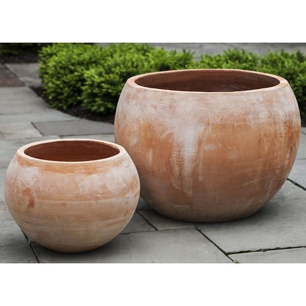 Terra Cotta Bowl Planters Set Of 2 Terracotta Planter Planters Planter Pots