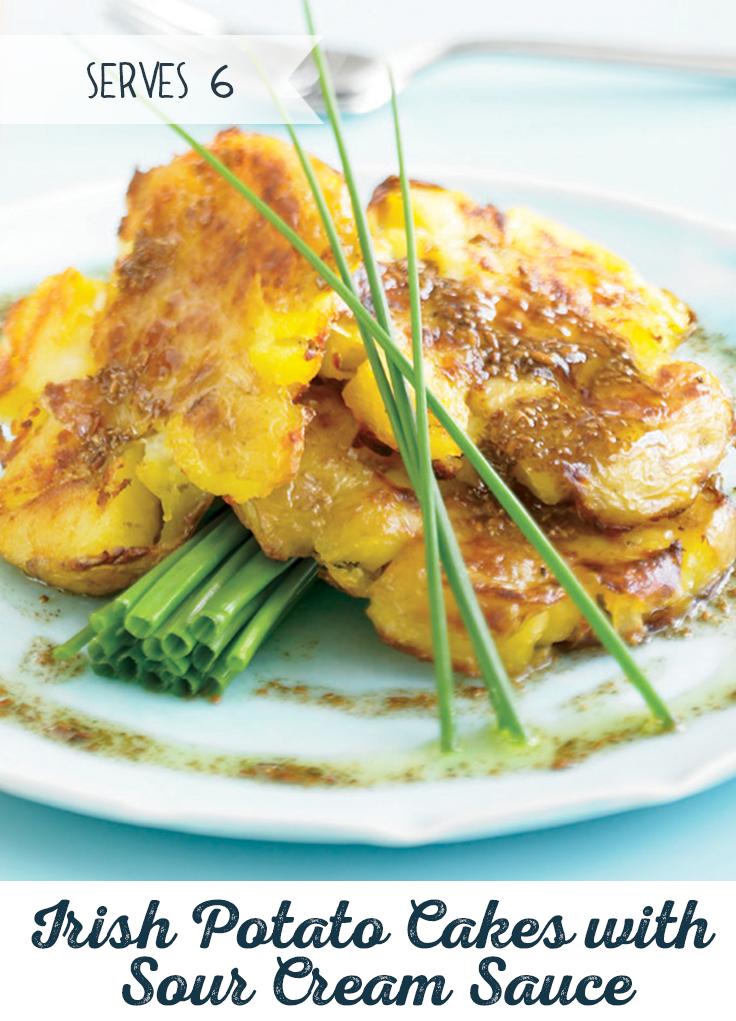 Potato Recipes Irish Potato Cakes With Sour Cream Sauce Recipe Sour Cream Sauce Sour Cream Cake Recipes