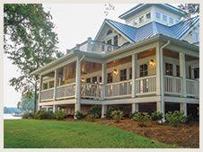 Wrap Around Porch With Lots Of Windows!!! Coastal House PlansBeach ...
