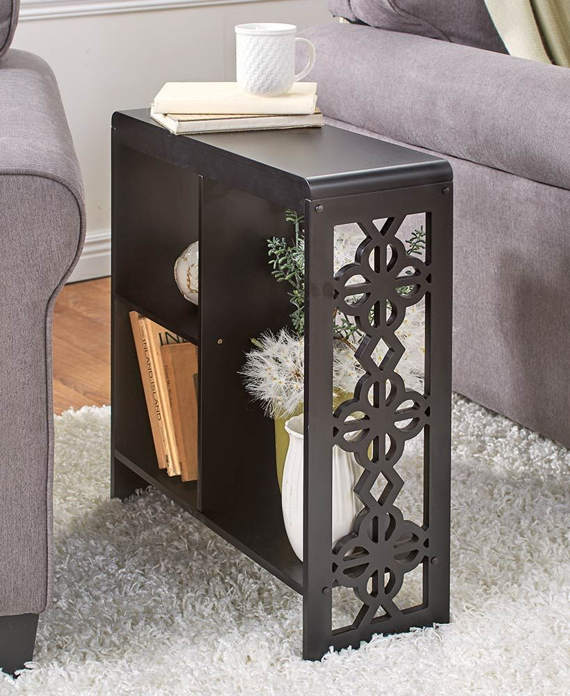 Slim Side Table With Cutout Accents With Images Slim Side