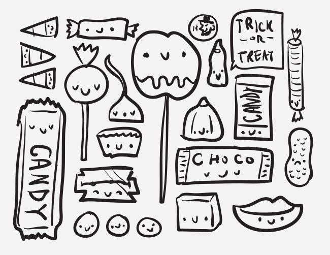 THE MAKING OF: A SPOOKY HALLOWEEN ILLUSTRATION (these are things illustration process)