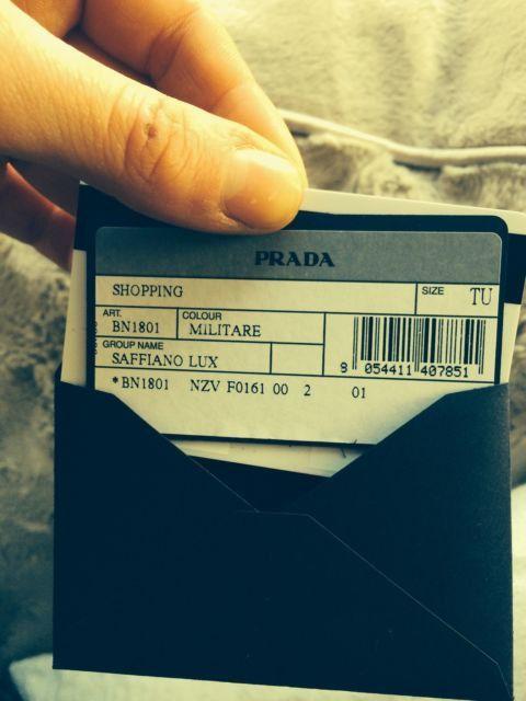 62988f7dbf5934 PRADA Saffiano Lux Tote Shoulder Bag Khaki Militaire by Londonfash, £945.00