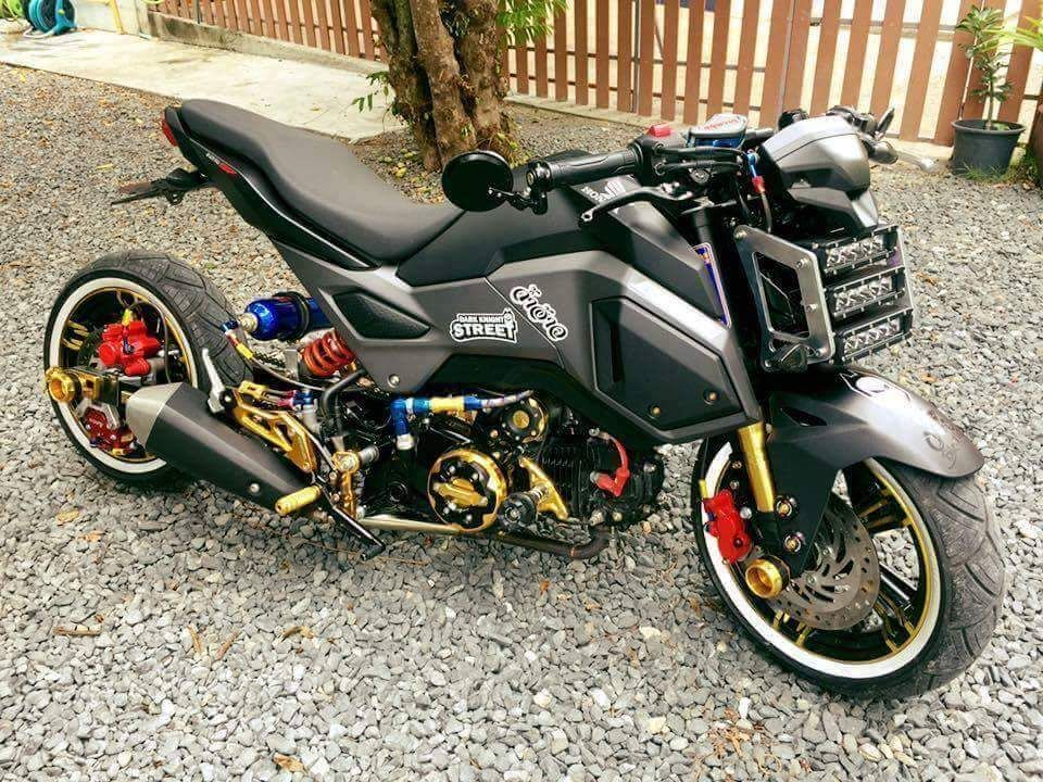 2017 honda grom msx lowered stretched motorcycle for 2018 honda grom top speed