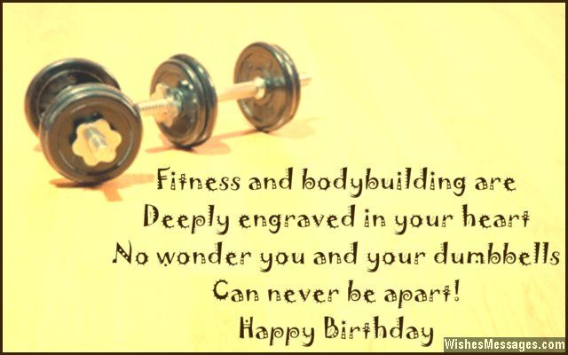 Birthday wishes for bodybuilders messages for gym and fitness birthday greeting card message for bodybuilders and fitness freaks m4hsunfo