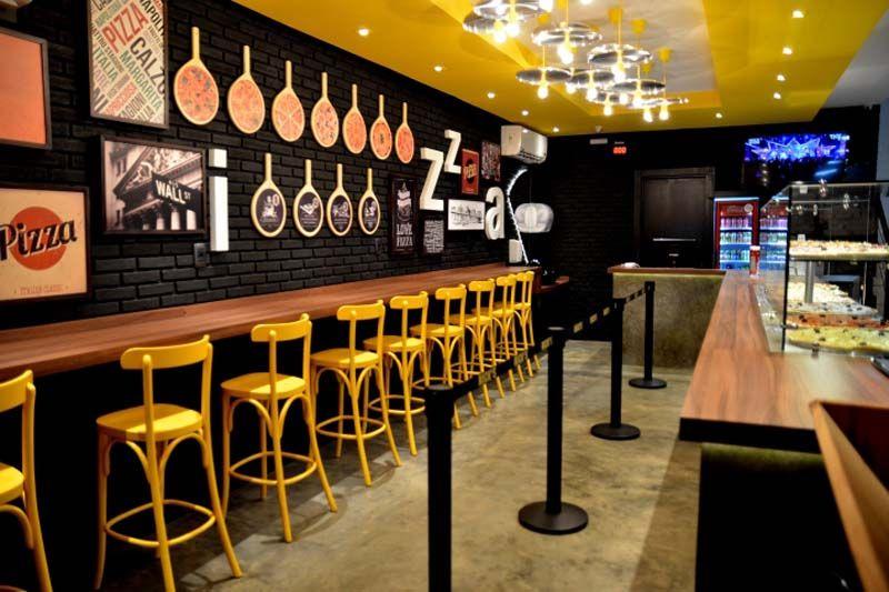 Decora o s a nick 39 s pizza em rio claro sp for Fachadas de restaurantes modernos
