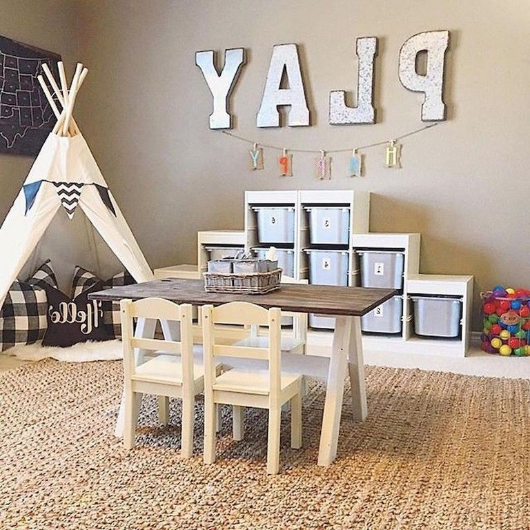 71 Smart Basement Playroom Design Ideas For Kids Playroom Design Small Playroom Kids Playroom
