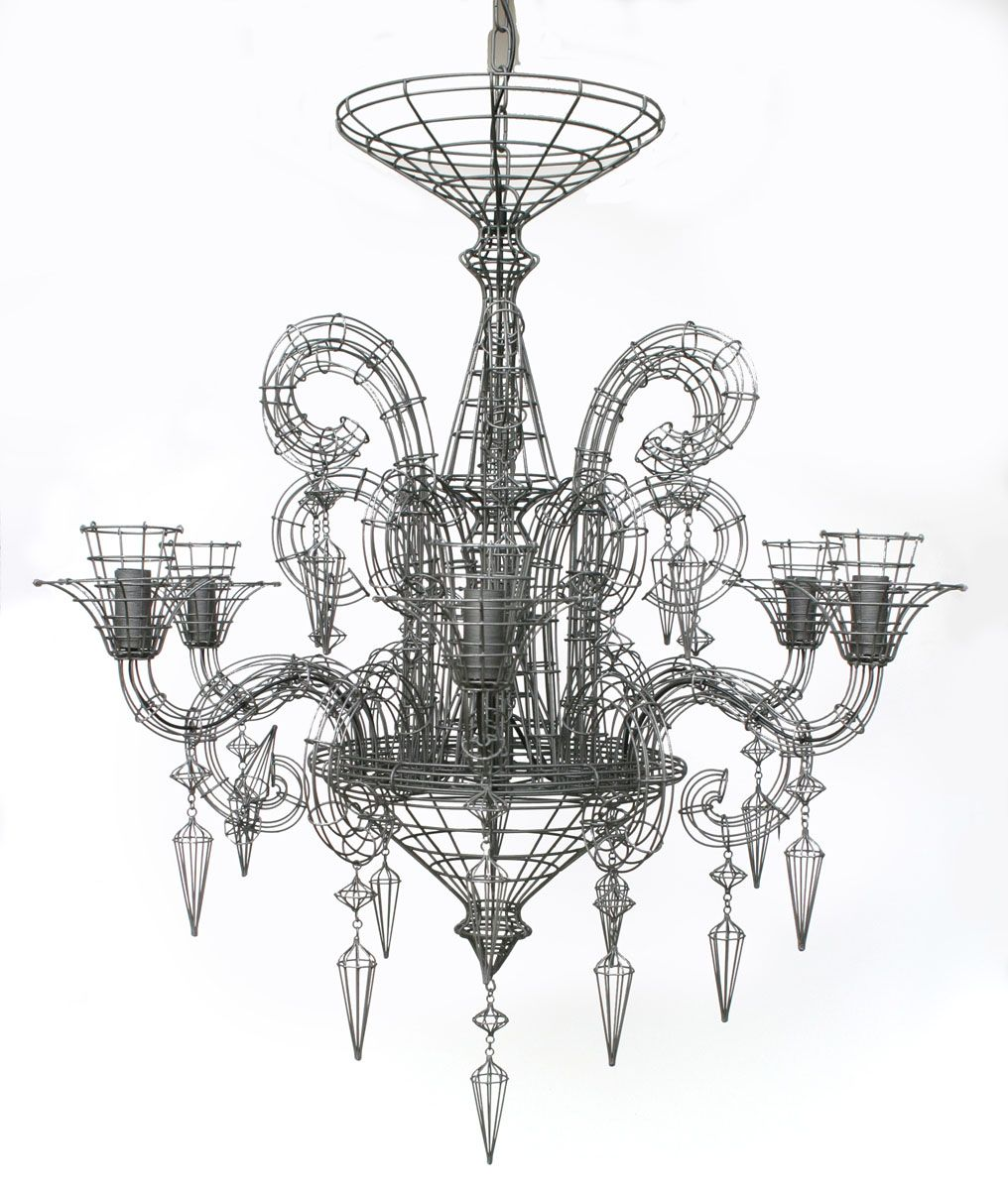 Shades of gray home and art zsazsa bellagio like no other biju grand french wire chandelier pewter l 110 h x 100 diameter xl 135 h x 125 diameter aloadofball Gallery