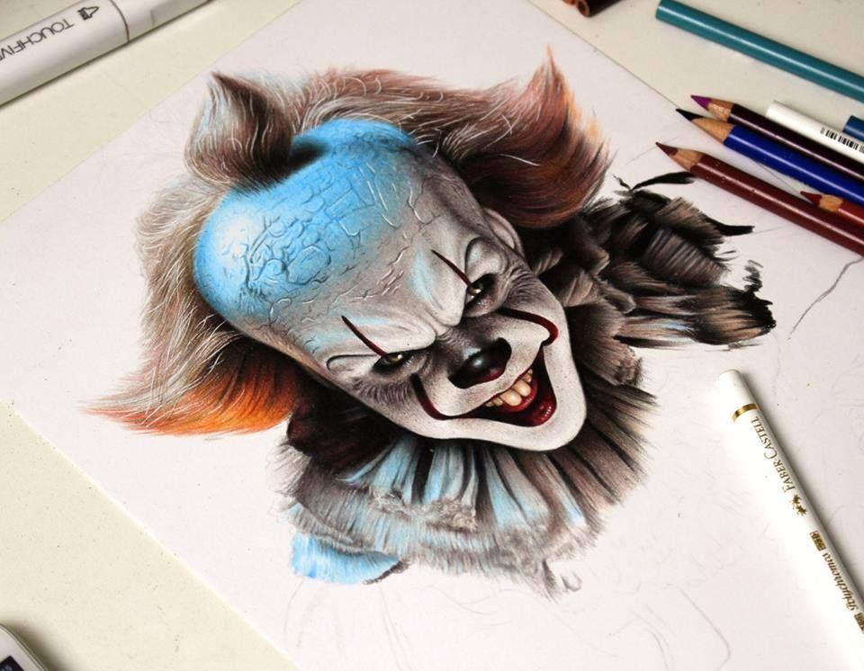 It A Coisa Desenhos Realistas Desenho Realista Olhos Desenho