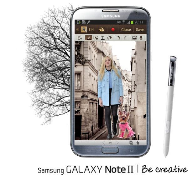 """This phone is great for creativity.     """"samsung galaxy note2"""" by bluelemon ❤ liked on Polyvore"""