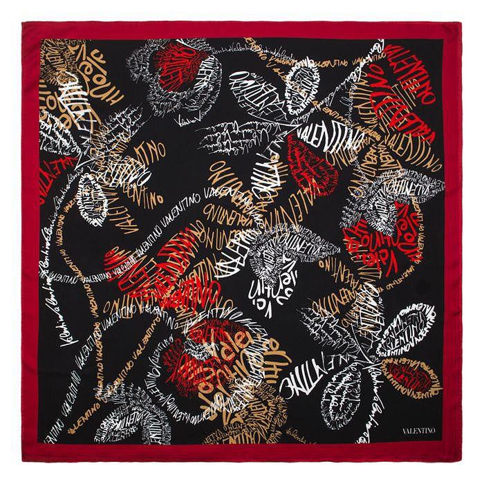 Printed scarf Valentino Wqe78eU
