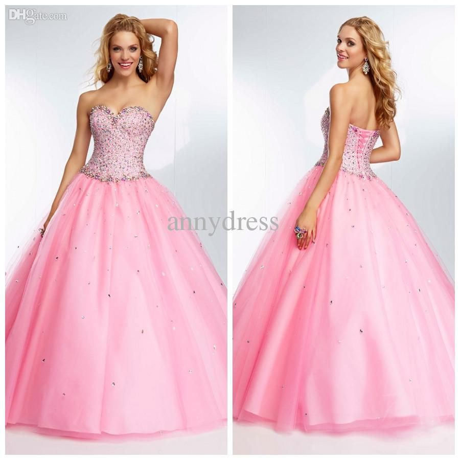 Cheap prom dresses discount beaded sweetheart ruffle tulle teenage
