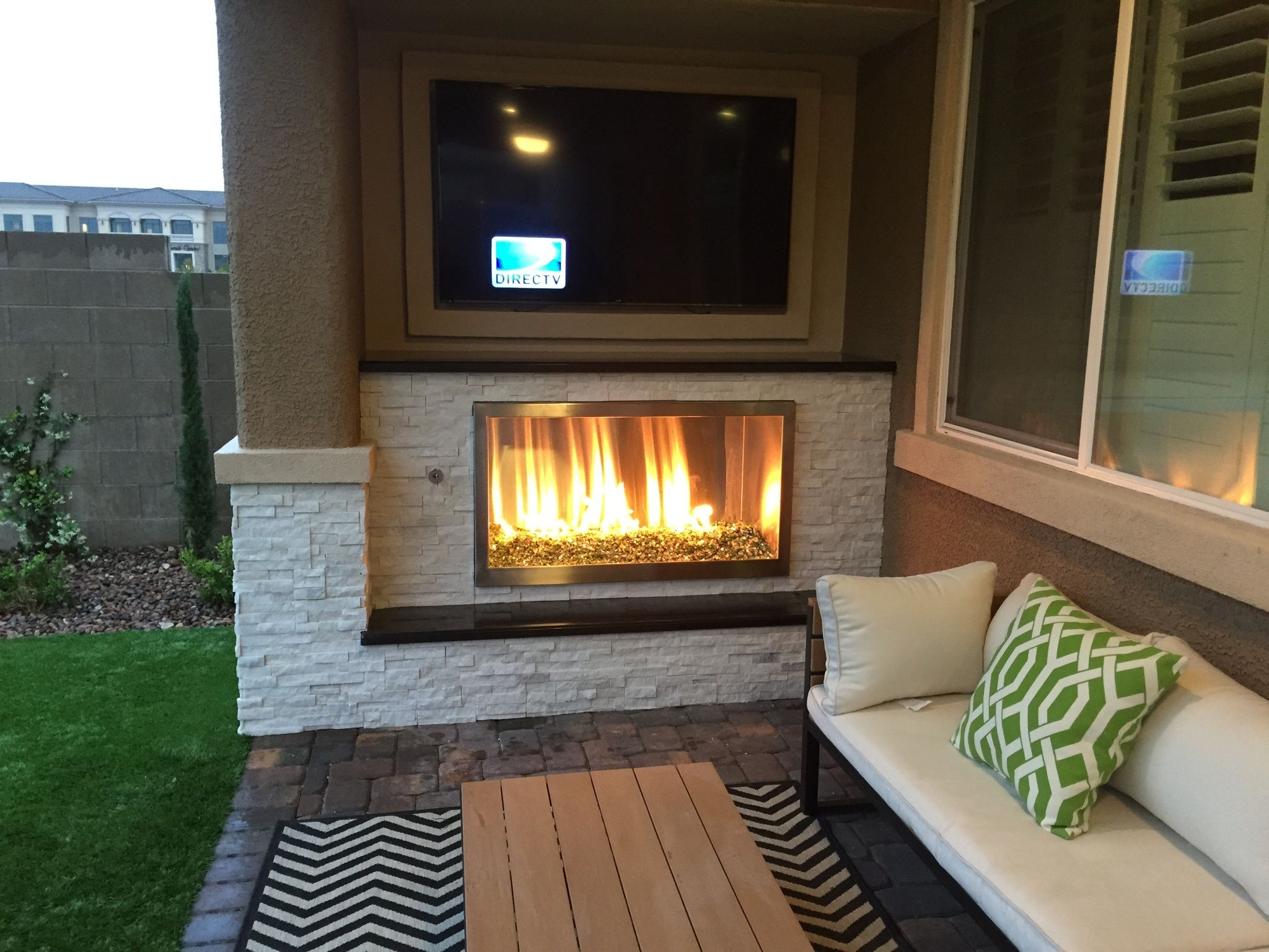 outdoor fireplace with tv fujise us